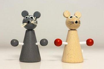 Dřevěná hračka - Myška  - 1