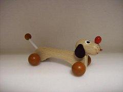 Dřevěná hračka - Pejsek Špagetka
