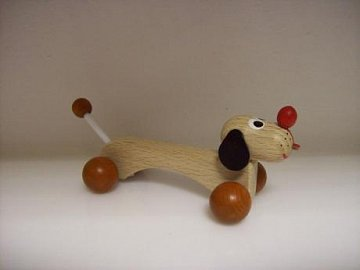 Dřevěná hračka - Pejsek Špagetka - 1