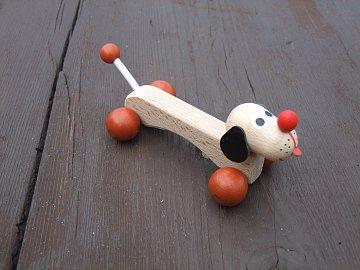 Dřevěná hračka - Pejsek Špagetka - 2