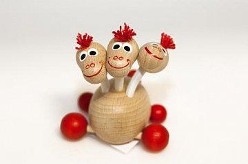 Dřevěná hračka - Trojhlavý dráček - 1