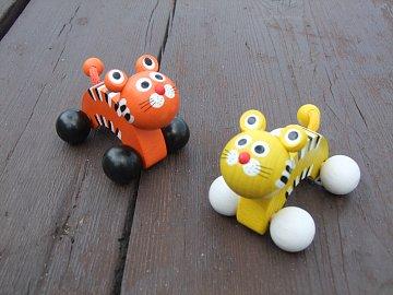 Dřevěná hračka - Tygr na kolečkách - 2
