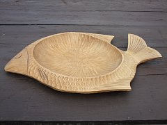 Dřevěná miska - ryba 36 cm