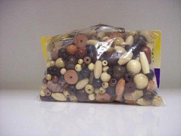 Dřevěné korále mix - 1