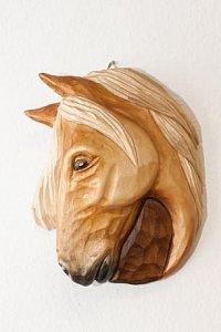 Hlava koně bílá - 17x13 - 1