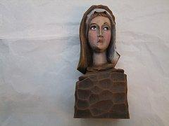 Hlava Madonky s podstavcem - 19 cm