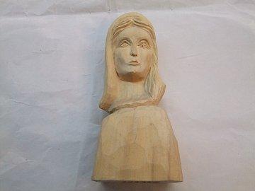 Hlava Madony  Natur - 20 cm - 1