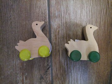 Kachna na kolečkách - 6 cm - 1
