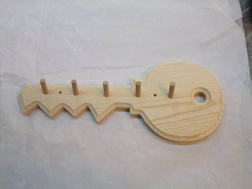 Klíč - věšák natur - 34 cm - 1