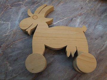 Koza na kolečkách natur - 1