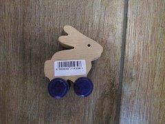 Králík na kolečkách natur - 6 cm