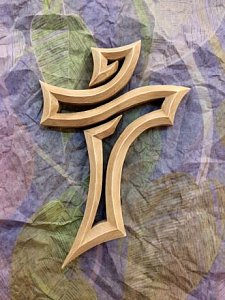 Kříž prořezávaný světlý - 1