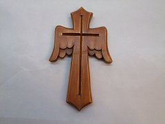 Kříž s křídly  -20cm