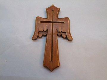 Kříž s křídly  -20cm - 1