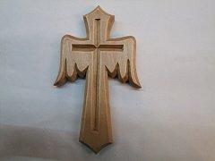 Kříž s křídly - 25 cm