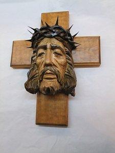 Kříž s Kristem s trnovou korunou - 36 cm - 1