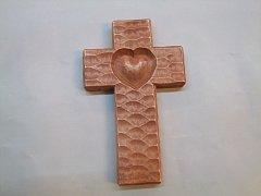 Kříž se srdcem - 16 cm