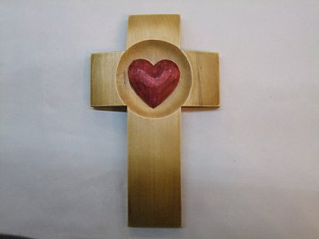 Kříž se srdcem - 16 cm - 1