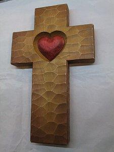 Kříž se srdcem - 41 cm - 1