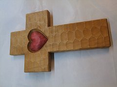 kříž se srdcem - 50 cm