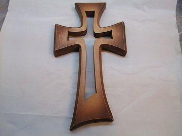 Kříž vyřezávaný v kříži - 42 cm - 1
