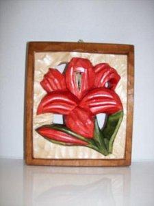 Květina - dřevěná plastika 12x14 - 1