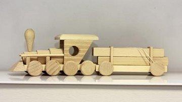 Mašinka s vagonem dřeva - 1