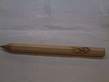 Max.tužka s řezbou - 40 cm - 1