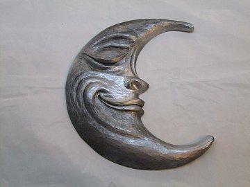 Měsíc stříbrný - 31 cm - 1