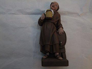 Mnich s půllitrem barevný - 25 cm - 1