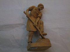 Muž s lopatou natur - 25 cm