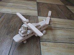 Náklaďák natur, vrtulník 20 cm