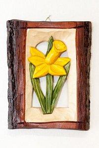 Narcis - dřevěná plastika 21x16 - 1