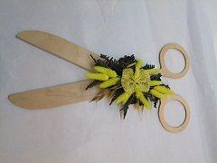 Nůžky s květinou - 40 cm