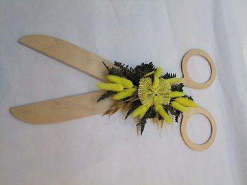 Nůžky s květinou - 40 cm - 1