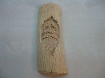 Obličej ve dřevě - 1