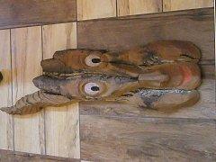 Obličej ve dřevě - 78 cm