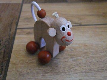 Opice malá na kolečkách - 9 cm - 1