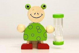 Přesýpací dětské hodiny - Žába