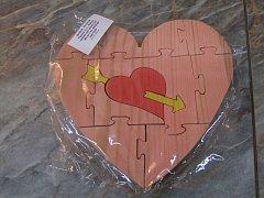 Puzzle srdce se šípem