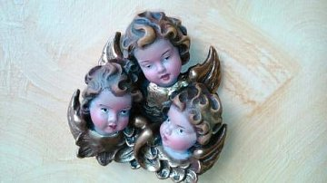 Řezba andílkové trio - 1
