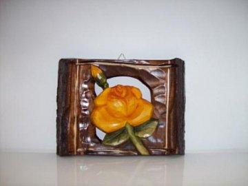 Růže - dřevěná plastika - 1