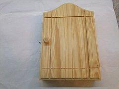 Skříňka na klíče natur