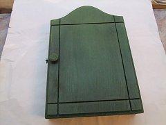 Skříňka na klíče zelená