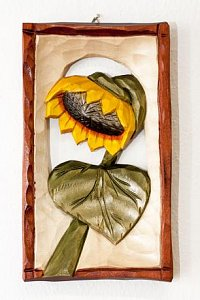 Slunečnice - dřevěná plastika 11x20 - 1