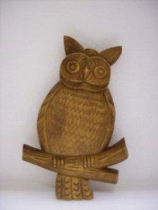 Sova - dřevěná plastika 13x18 - 1