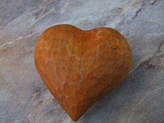 Srdce barevné 6 cm