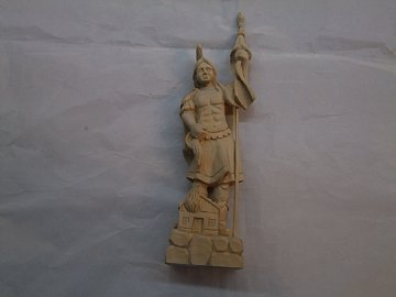 Svatý Florián natur - 28 cm - 1