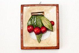 Třešně - dřevěná plastika 11x14