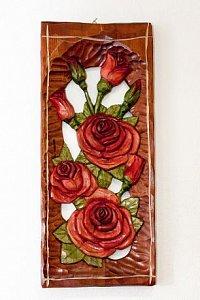 Tři růže - dřevěná plastika - 1